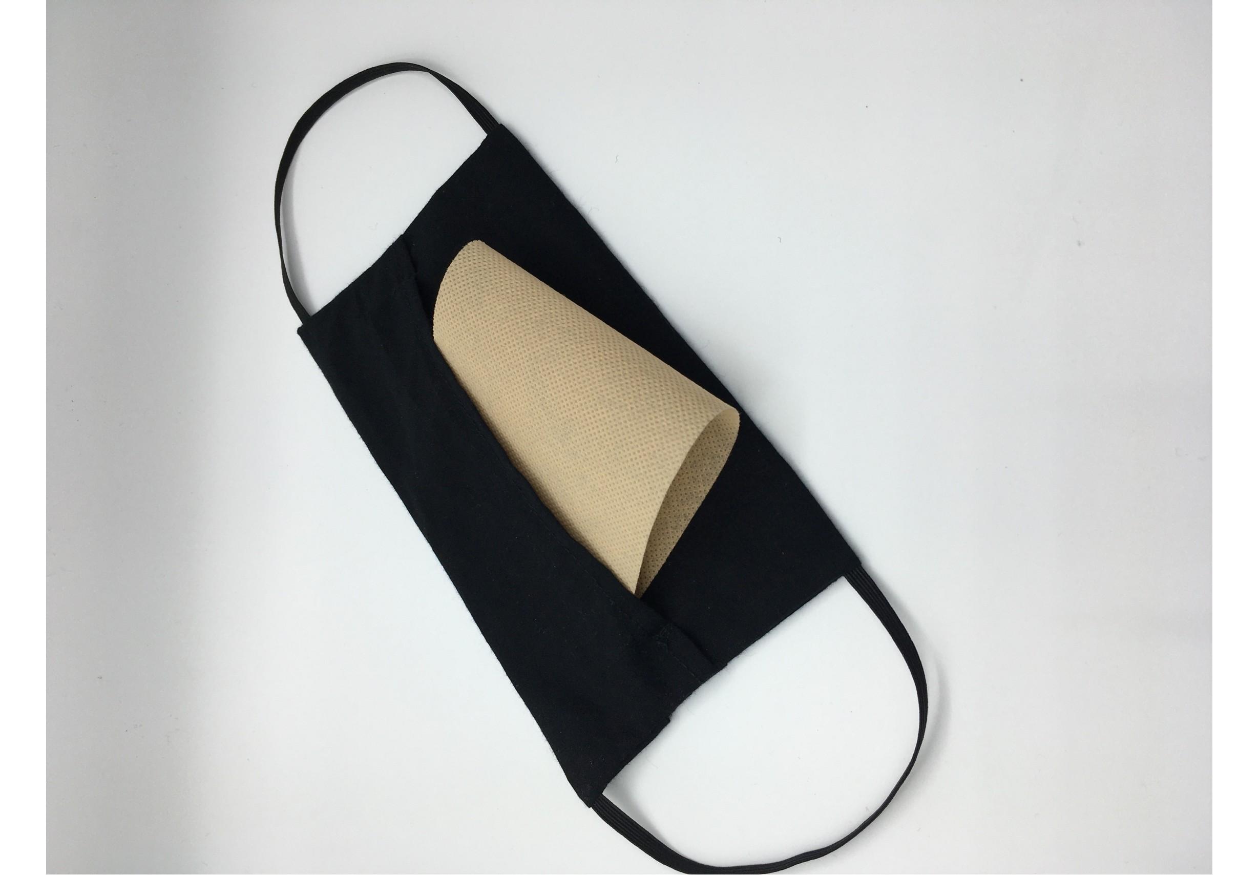 Двуслойна предпазна маска с джоб за филтър
