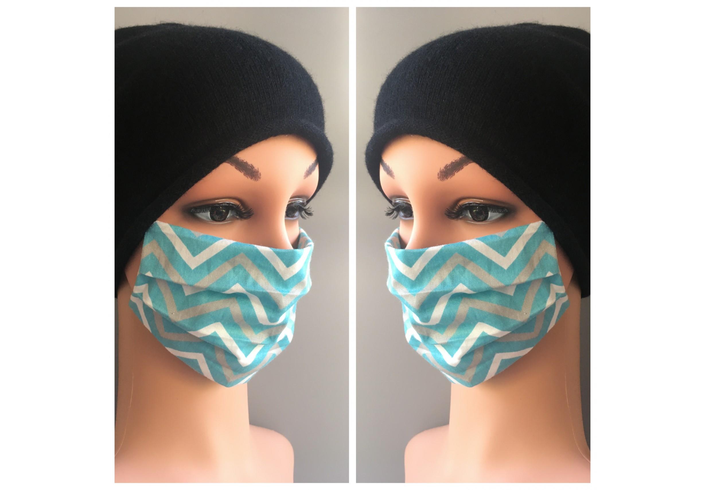Двуслойна предпазна маска с джоб за филтър за многократна употреба (вариант 2)