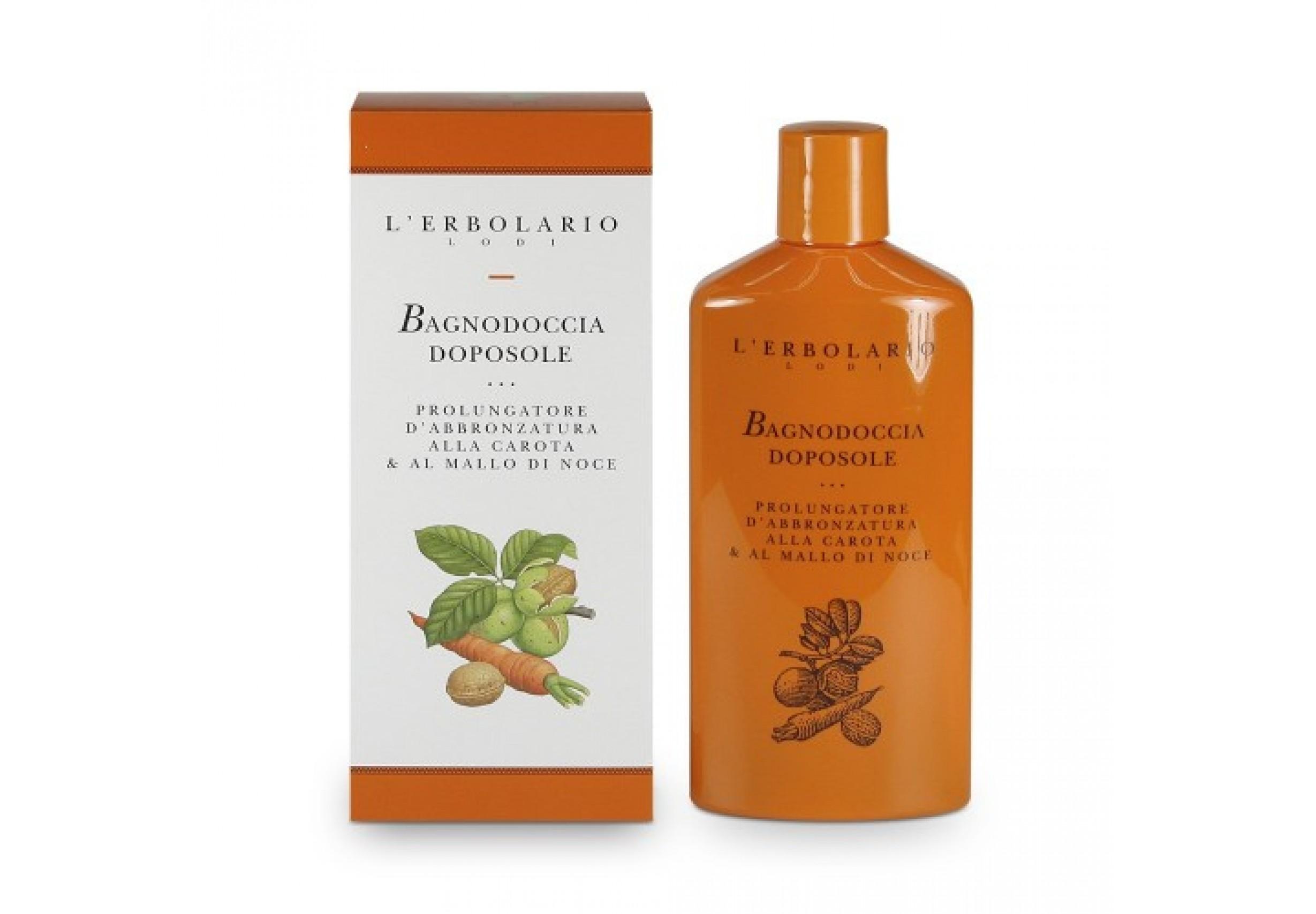 After-sun shower gel for long-lasting tan