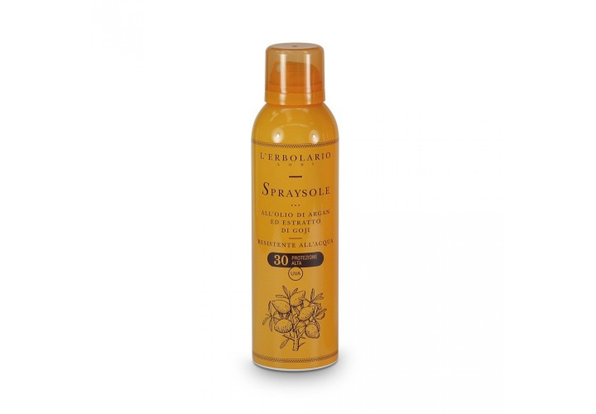 Sun protection spray with argan oil and goji berry extract