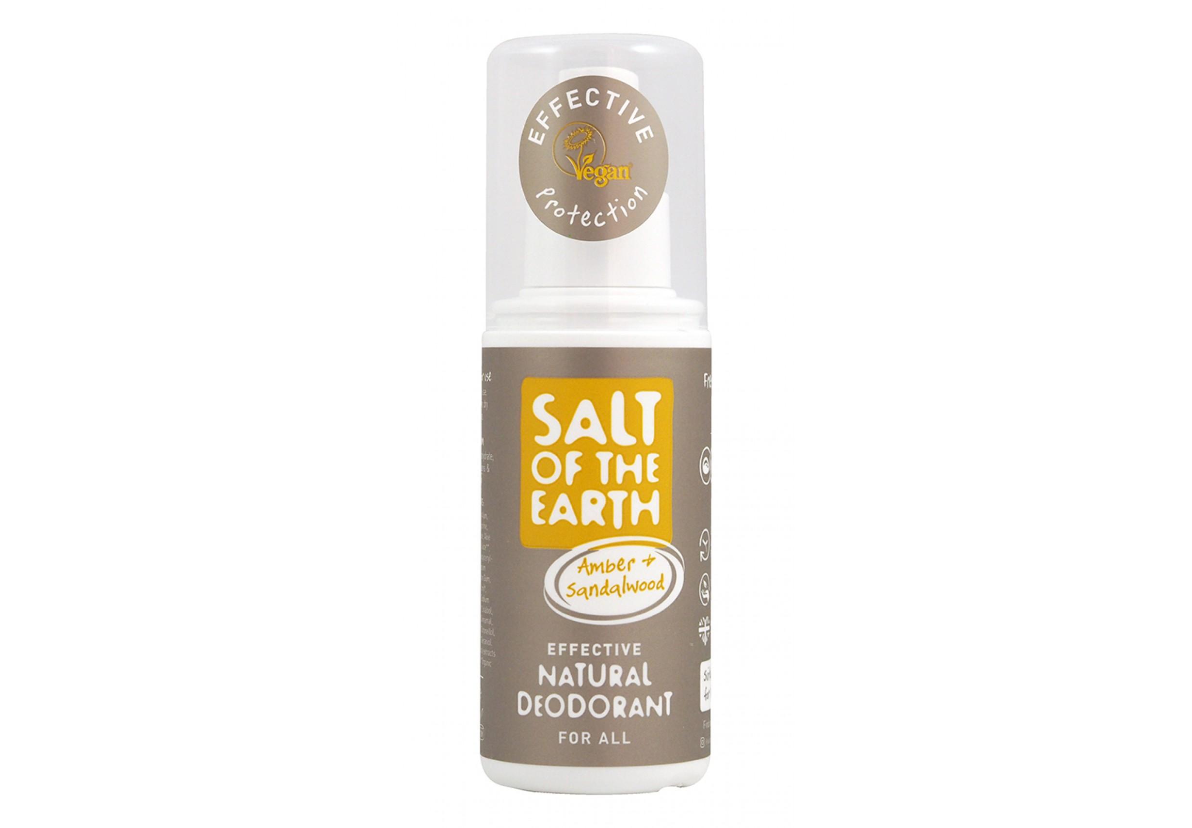 Amber & Sandalwood Natural Deodorant Spray
