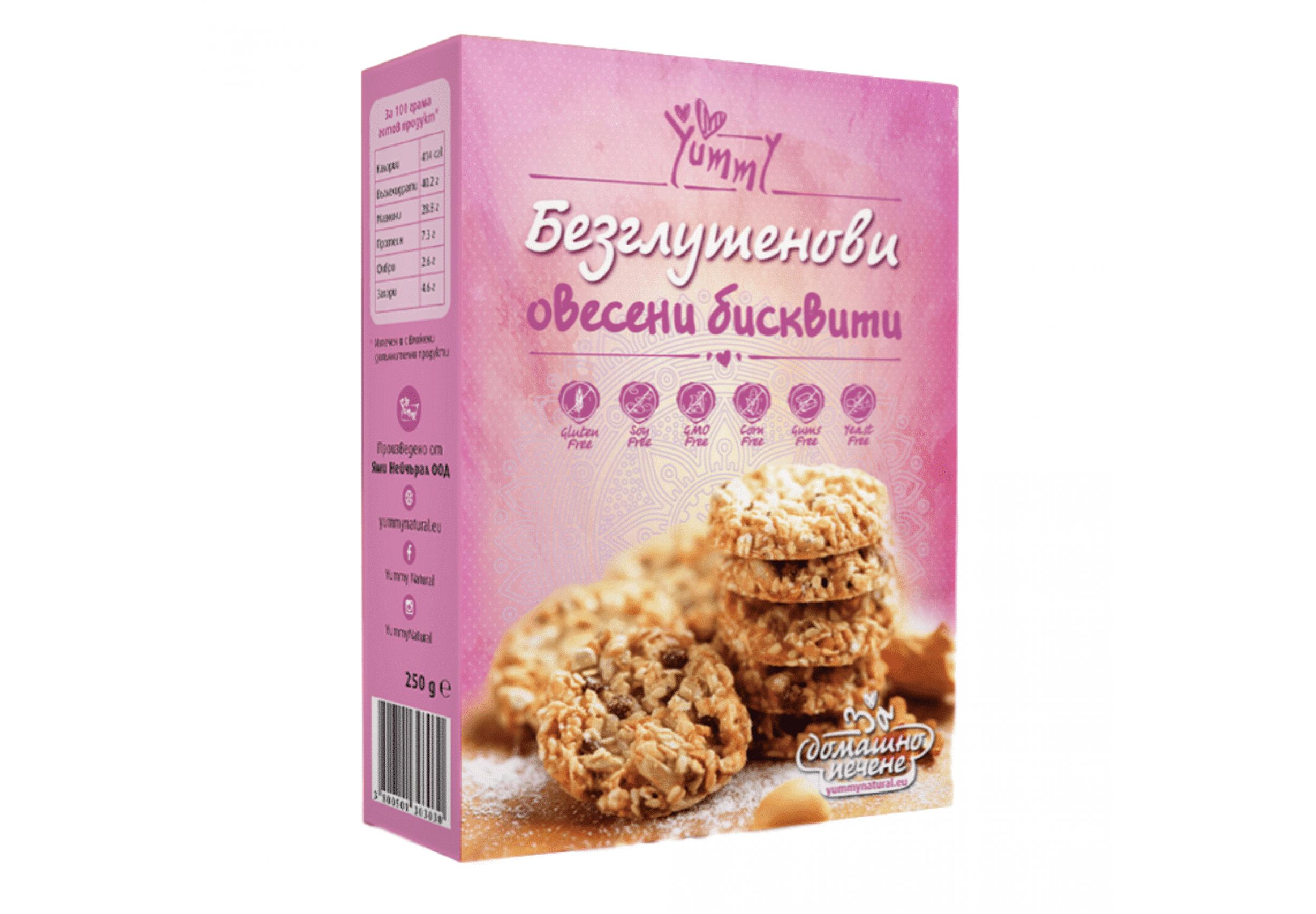 Безглутенови Овесени бисквити